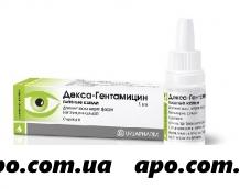 Декса-гентамицин 5мл гл капли флак/кап