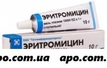 Эритромицин 10000ед/г 10,0 гл мазь