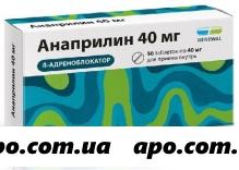 Анаприлин 0,04 n56 табл инд/уп /renewal/
