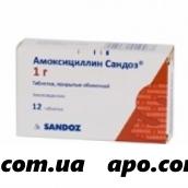 Амоксициллин сандоз 1,0 n12 табл п/о