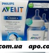 Авент бутылочка д/кормления 260 мл n2/bpa 0%/полипропилен(86060)scf563/27