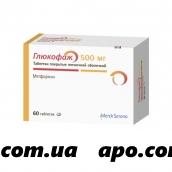 Глюкофаж 0,5 n60 табл п/плен/оболоч
