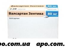 Валсартан зентива 0,08 n28 табл п/плен/оболоч