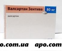 Валсартан зентива 0,08 n84 табл п/плен/оболоч
