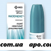 Назонекс 50мкг/доза 18г 120 доз спрей назальн дозир