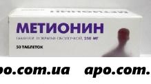 Метионин 0,25 n50 табл п/о/авва рус/
