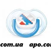 Авент соска-пустышка  0-6мес/мальч арт. 86122 scf172/12