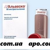 Альвеско 80мкг/распыл 5мл аэрозоль д/инг