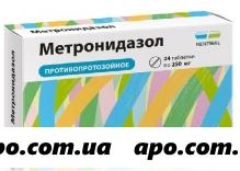 Метронидазол 0,25 n24 табл инд/уп